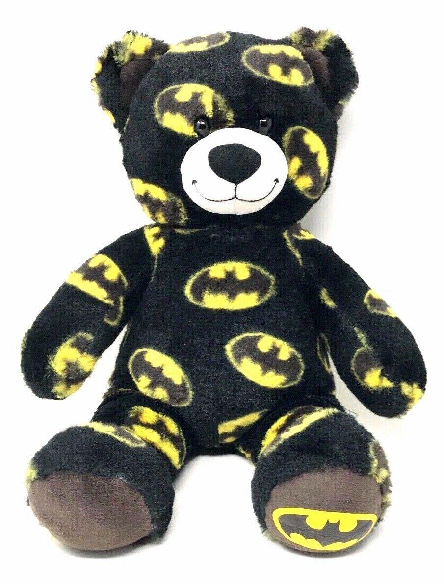 "Build A Bear Batman Stuffed Toy Plush Teddy Bear Superhero Themed DC Comics 17"""