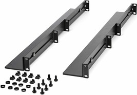 Startech 1U Server Rack Rails, Adjustable Depth, 4 Post, 200lb Rated UNIRAILS1UB - $53.50