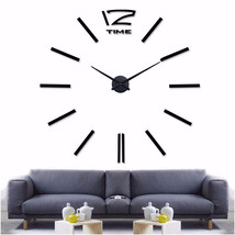 Muhsein Big Size Mirror Sticker DIY Wall Clocks Room - $30.95