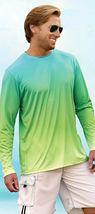 Sun Protection Long Sleeve Dri Fit  Aqua Blue Lime  base layer sun shirt UPF 50+ image 5