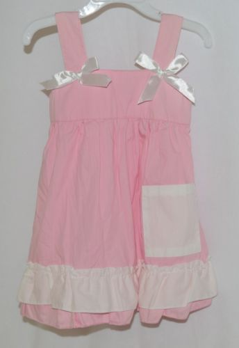 SK Spunky Kids Pink White Ruffle Sun Dress Size 90cm or 2 to 3 Year Old