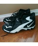 Rare Nike Cleats Black White Size 13.5 - 121423-011 - $24.99