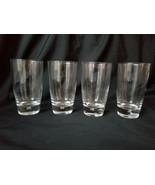 Crystal Tumbler Air Bubble Base Drinking Glasses Set of 4 - $41.75