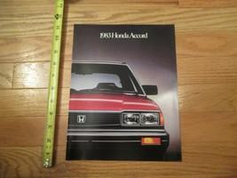 Honda Accord 1983 Car Auto Dealer showroom Sales Brochure Catalog - $9.99
