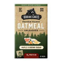 Kodiak Cakes, Protein Packed Instant Oatmeal, Maple & Brown Sugar, 6 Pac... - $9.00