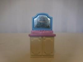Little Tikes Grand Mansion Dollhouse Bathroom Vanity Sink Blue Purple White - $10.91