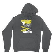 Im A Scrubs Wearin Shirt Temp Takin Life Savin Carin Unisex Charcoal Hoodie Swea - $24.95+