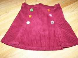 Girls Size 6 Gymboree Cute as a Button Burgundy Corduroy Mini Skirt Adju... - $15.00
