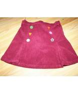 Girls Size 6 Gymboree Cute as a Button Burgundy Corduroy Mini Skirt Adju... - $15.00