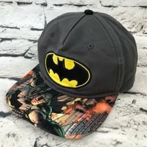 Batman Youth OSFA Hat Gray Graphic Bill Adjustable Snapback Baseball Cap - $19.79