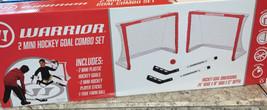 Warrior Hockey Mini Hockey Training Game Combo Set 2 Nets, 2 Sticks, 1 B... - $33.47