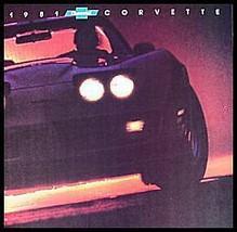1981 Chevy Corvette ORIGINAL Dealer Brochure, GM NOS Xlnt 81 - $15.39