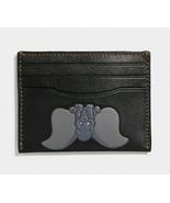 Coach X disney card case Holder with dumbo Elephant ~NWT~ Black 69222 - $163.35