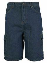 Men's Premium Cotton Multi Pocket Relaxed Fit Stonewash Denim Jean Cargo Shorts image 9