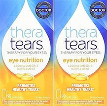 Thera Tears Nutrition, 1200mg Omega-3 Supplement Capsules, 90-Count (Pac... - $31.18