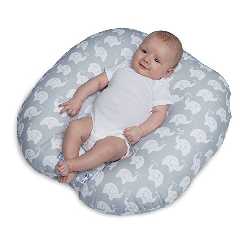 Primary image for Original Newborn Lounger, Elephant Love Gray