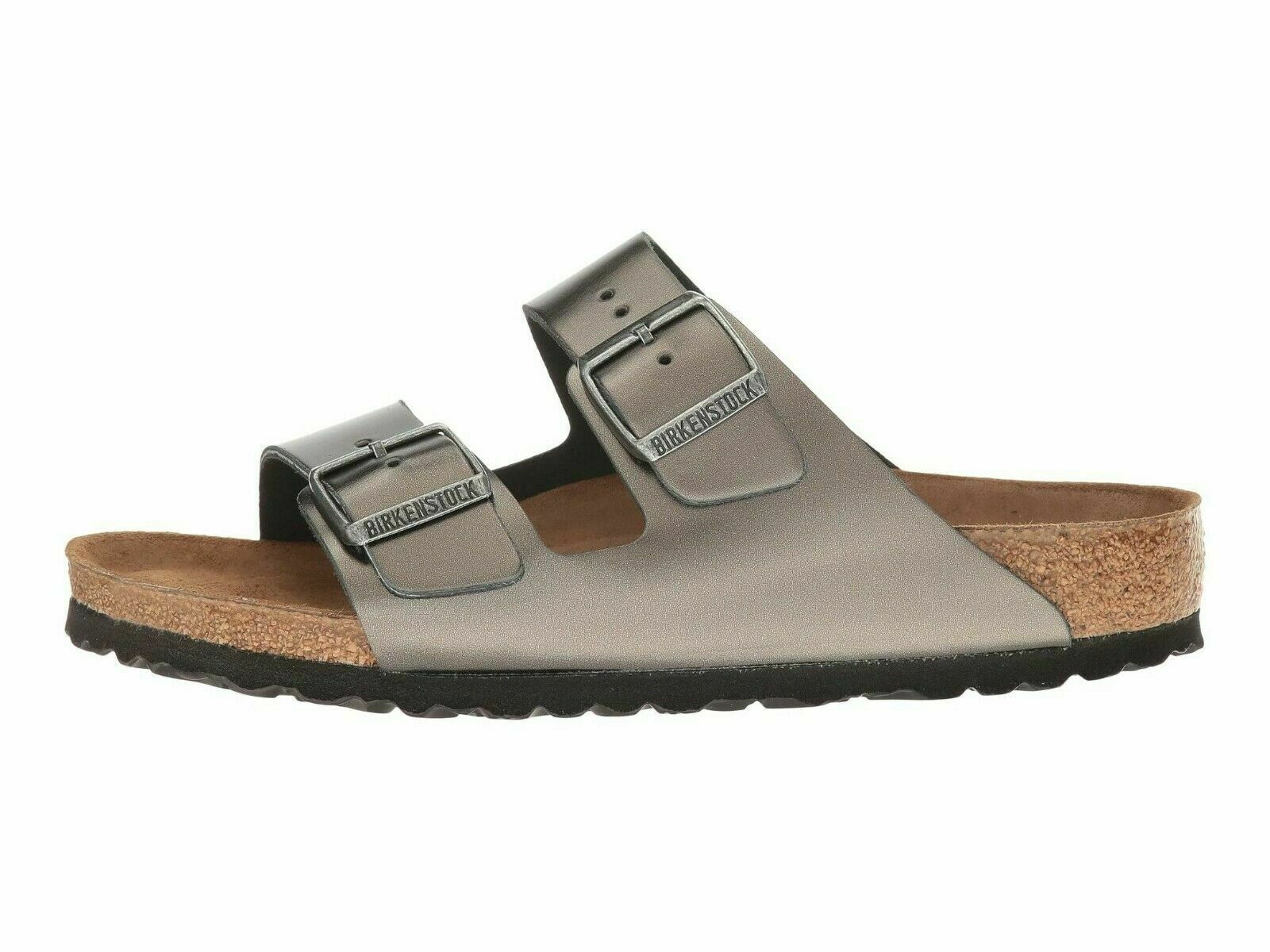 Birkenstock Arizona Soft Footbed Anthracite Women's Sandals 1000295 - $119.00