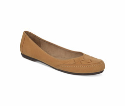 Naturalizer Remember Womens Shoes Camel Nubuck Leather Flats, Size 5.5 Med. - $39.59