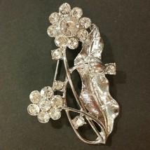 Vintage Flower and Leaves Brooch - $10.89