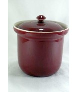 Hall Pottery Maroon Coffee Canister #473 - $12.59