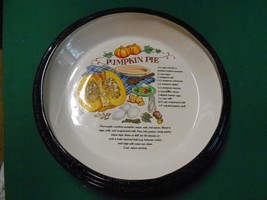 Great Ceramic PUMPKIN Pie Recipe Deep DISH Plate - $14.44