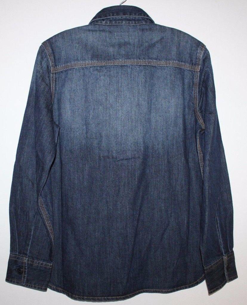 Gap Kids NWT Boy's Blue Denim Jean Shirt image 2
