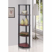 Turn-N-Tube 5 Tier Corner Shelf Home Furniture Decor Storage Dark Cherry... - $36.41