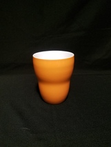 A Starbucks Orange Aida Coffee Tea Cup No Handle 8oz 2008 Ceramic Mug - $14.99