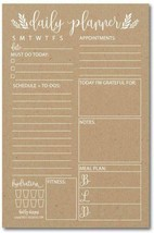 Rustic Undated Daily Task Planner To Do List Pad, School Family Life Wor... - $13.85