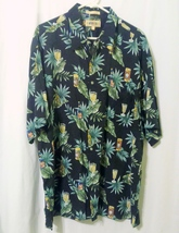Campia Moda Mens Tropical Cocktail Theme Hawaiian Shirt Size XL  - $10.00