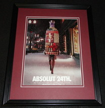 2005 Absolut 24th Christmas Vodka Framed 11x14 ORIGINAL Advertisement - $34.64