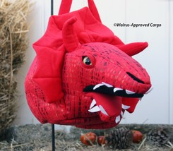 POTTERY BARN KIDS PUFFY DRAGON TREAT BAG -NWT- TIP THE SCALES IN FAVOR O... - $39.95