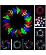 Lot LED Patterns Rainbow Flash Light Tri-Spinner Fidget Toy EDC Hand Fin... - $4.99