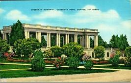 Cheesman Memorial Cheesman Park Denver Colorado CO Linen Postcard - $5.89