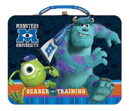 Primary image for Walt Disney Monsters University Large Carry All Tin Tote Lunchbox Style B NEW