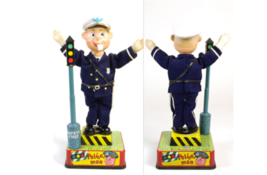 1950s Police officers to organize traffic Battery type 35 cm  Tinplate U... - $936.09