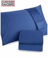 Charter Club Damask Solid 500 Thread Count Standard Pillowcase Pair - Denim - $39.59