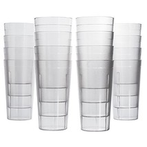 Cafe 20-ounce Break-Resistant Plastic Restaurant-Style Beverage Tumblers... - $22.37