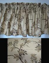 Window Valance w New Ralph Lauren Fabric PLAGE D'OR FLORAL GOLD BLACK TAN - $34.45