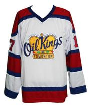 Custom Name # Edmonton Oil Kings Retro Hockey Jersey New Red Semchuk Any Size image 1