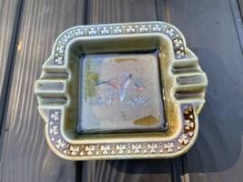 Vintage Wade Co. Irish Porcelain Ashtray IP626 Ireland Duck Scene - $24.74