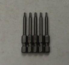 "Bosch 9960233 TX10 x 2"" Torx Insert Screw Bit Tips Extra Hard 5pcs. USA - $2.97"