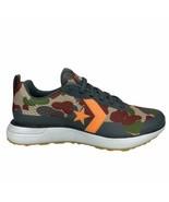 Converse Star Series Run Ox Sneaker Almost Black / Camo / Bold Orange 16... - $54.99