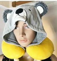 Taza Hooded Neck Pillow Bear Hood for Kids Big and Small - $18.59