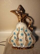 Jim Beam Decorator BOTTLE--BEAM'S--BLUE FLORAL--CHIPPED CORK--FREE SHIP--VGC - $33.47