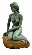 """Deep Blue Professional Large Mermaid Statue, 14.5"""" - $70.85"""