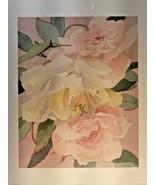 "Dusty Rose Robert White 19"" x 24.75"" pink white roses - $17.81"