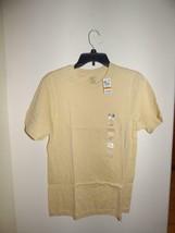 Alfani Men's Short Sleev  Crewneck  cotton T-Shirt, Almond Biscotti, Siz... - $3.91