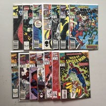 Lot 14 Web of Spider-Man (1985 1st Series) from #16-104 Annual #2 6 VF V... - $57.42