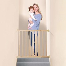 Dreambaby Nelson Expandable Wooden Walk Through GRO-Gate - Perfect for Large Ope